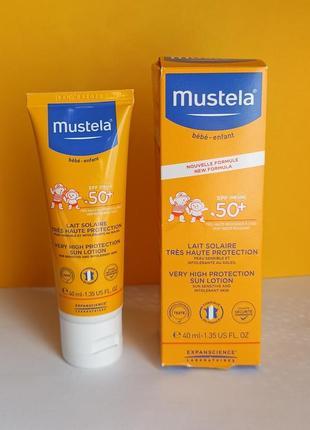 Солнцезащитный крем  mustela 50+ , для детей и взрослых, 40 мл