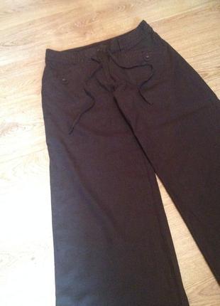 Стильные летние брюки/лен+вискоза/под футболка блуза/ next / l