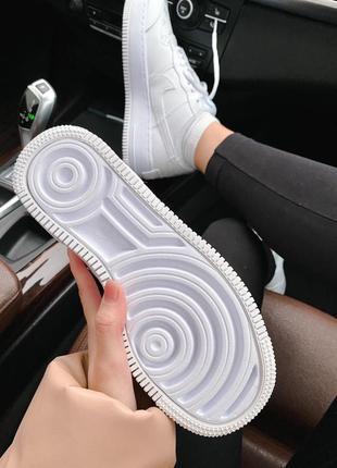 Женские стильные весенние кроссовки nike & lv air force 1 shadow white6 фото