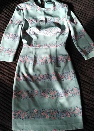 Мятное платье kira plastinina размер xs