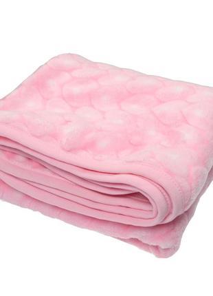 Ковдра велсофт рожева. розмір 100*95 см.