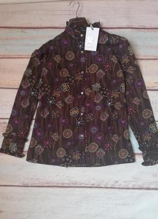 Блуза co'couture  цвет черный с цветочным узором s, блузка, рубашка