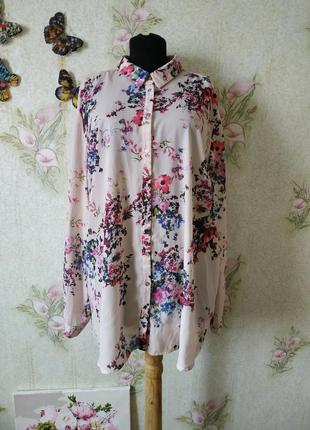 Женская блузка рубашка на пуговицах большого размера george