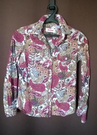 Хлопковая рубашка с принтом пейсли идеальный компаньон для денима