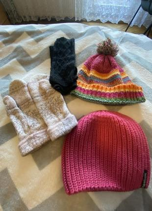 Шапки и перчатки цена за все