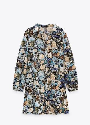 Мини платье с принтом