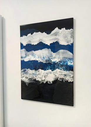 Картина море эпоксидной смолой resin art
