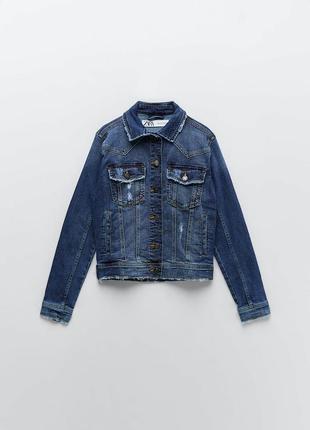 Крутая джинсовка, джинсовый пиджак zara  размер m l  куртка джинсовая
