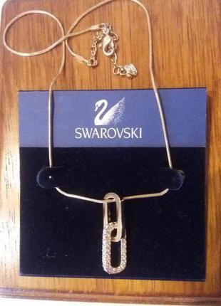 Быстрая продажа!!колье с цепочкой подвеска кулон swarovski оригинал!!