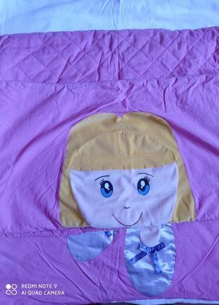 Большой розовый спальный мешок для девочки- подростка. балерина