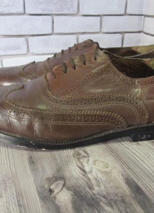 Кожаные туфли броги trustyle