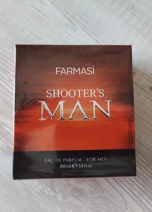 Мужская туалетная парфумированная вода shooters man 100 мл farmasi