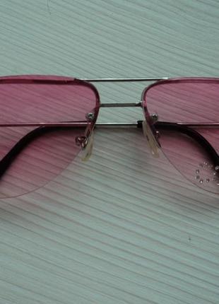 Розовые солнцезащитные очки авиатор aviator