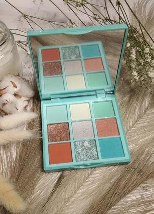 Тени для век huda beauty pastels mint obsessions