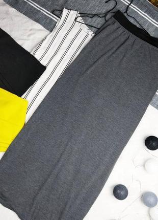 Длинная юбка из трикотажа