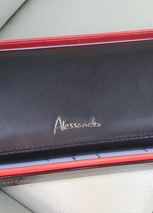 Великий шкіряний жіночий гаманець alessandro paoli