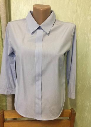 Женская голубая блуза / голубая рубашка