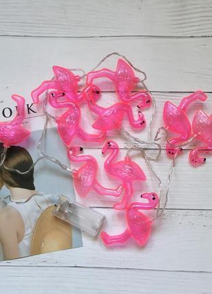 Сказочная гирлянда фламинго
