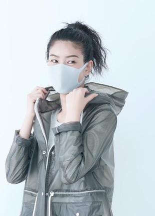 Многоразовые защитные маски pitta mask light gray/питта. не неопрен. полиуретан. япония ✅2 фото