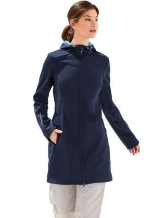 Куртка женская удлиненная софтшелл