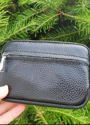 Жіноча шкіряна ключниця-гаманець