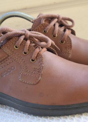 Кожаные туфли мокасины экко ecco р.42 27 см