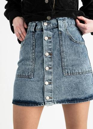 Джинсовая юбка на пуговицах варенка, тренд 2021!