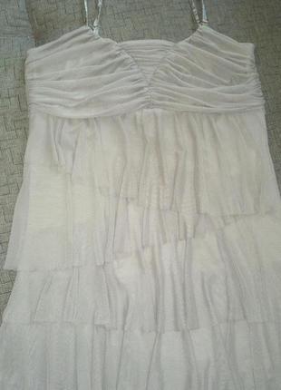 Нарядное платье-сарафан.