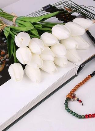 Тюльпаны латексные белые 10 шт в наборе