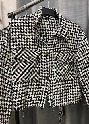 Рубашка твидовая