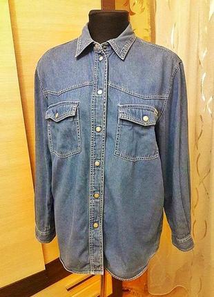 Крута джинсова сорочка оверсайз
