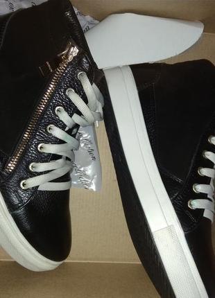 Кроссовки слипони ботинки кожа