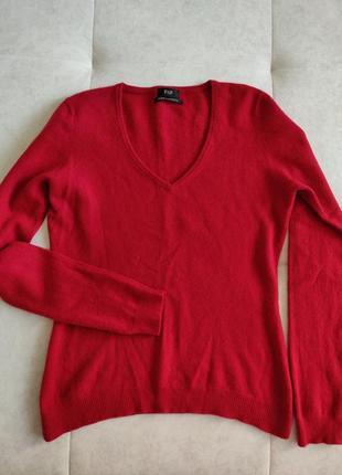 Кашемировый джемпер свитер полувер f&f