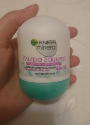 Шариковый дезодорант garnier mineral deodorant ультра защита 48ч
