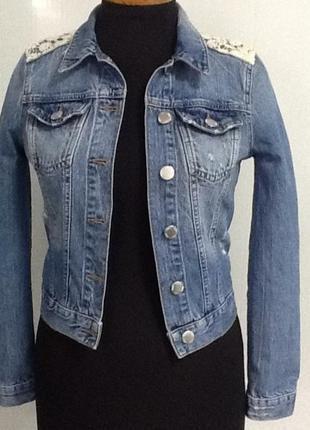 Джинсовый пиджак, жикет, джинсовка, куртка