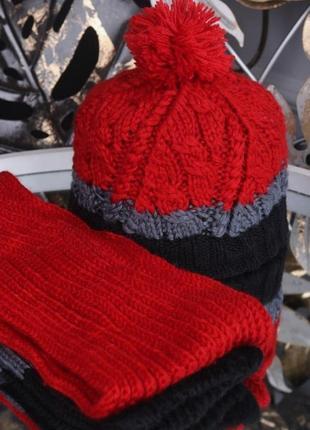 🐯комплект шапка и шарф демисезон🐼
