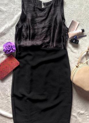 Коктейльное чёрное платье h&m