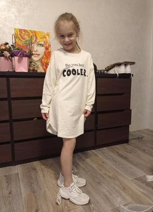 Платье, длинная футболка zara