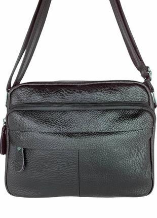 New💥мужская кожаная барсетка сумка на плечо черная сумка планшет чоловіча сумка