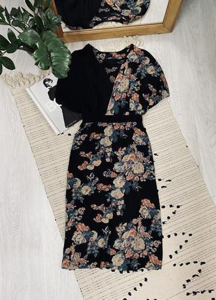 Міді плаття в квітковий принт від asos🌿