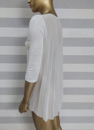 Невероятно красивая льняная блуза кофта дорого бренда sandro paris