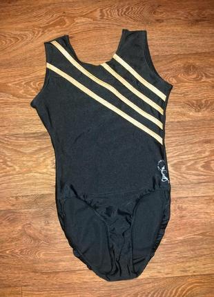 Трико боди купальник для танцев гимнастики тренировок выступлений для девочки
