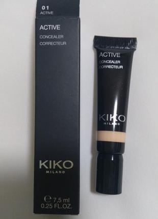 Жидкий консилер active concealer  kiko milano