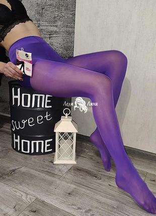 Матовые , фиолетовые колготки 160 ден.