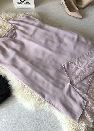 Супер - нежное двойное платье слип - sleep в бельевом стиле пудра, р. s/m...👠💄❤️