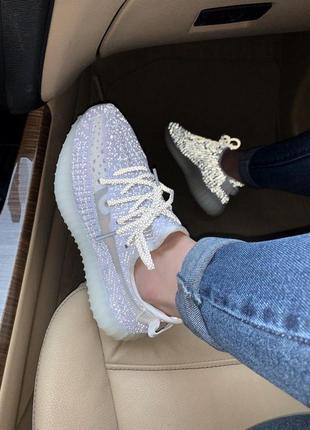 Кроссовки унисекс adidas yezzy 350 (полный рефлектив)