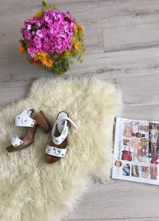 Italy 🇮🇹 сабо-босоножки-туфли 💐туфли оригинал)сабо)кожаные