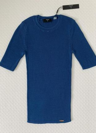 Tahari синяя блузка из лиоцела