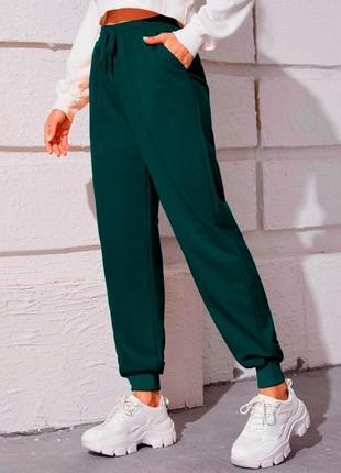 Брюки-джоггеры женские утепленные classic green 57070