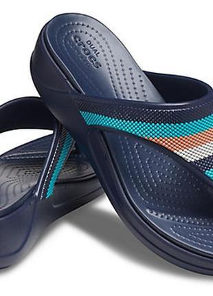 Crocs monterey beaded stripe  flip w8 и w9, оригинал.